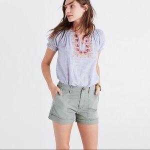 Madewell garmet-dyed cutoff shorts